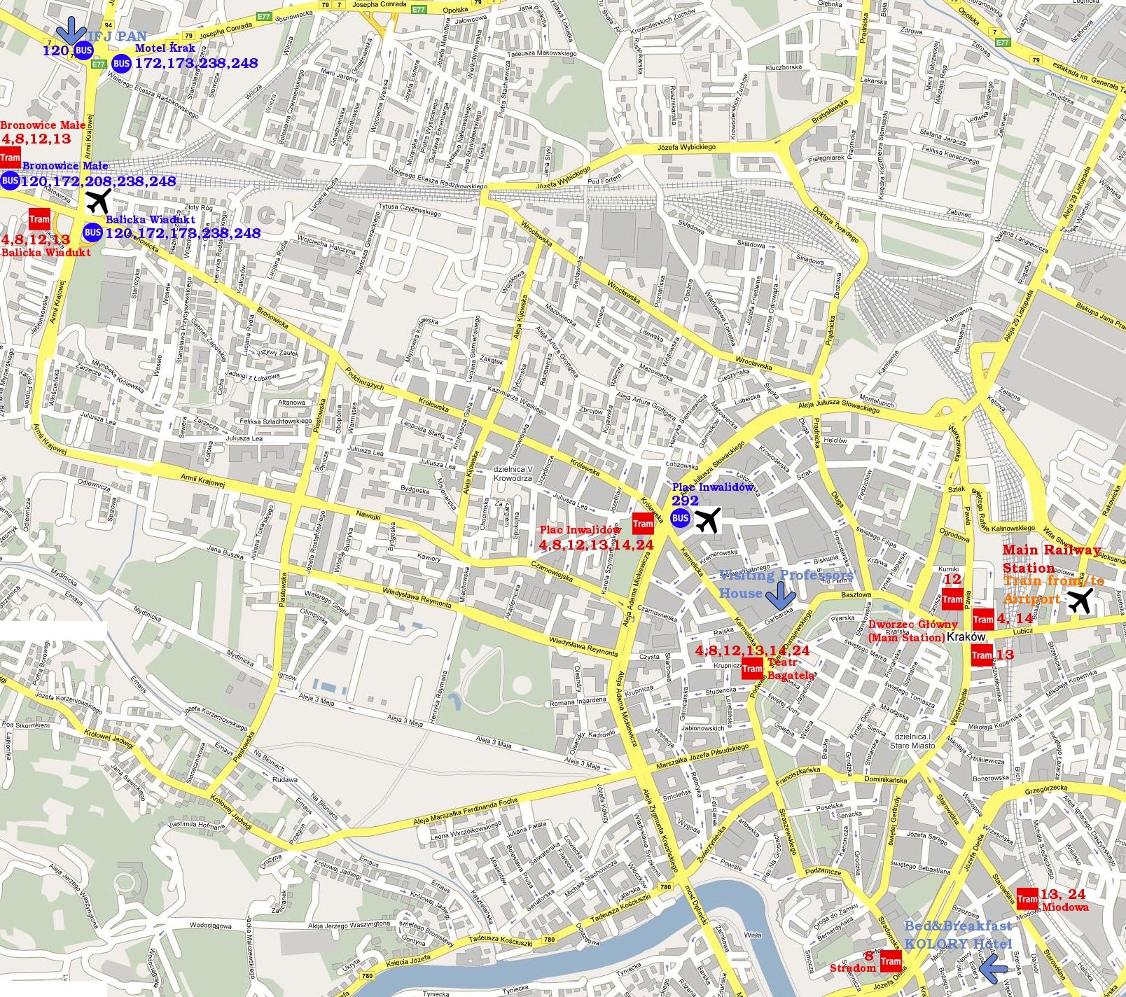 map warsaw