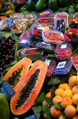 The hectic La Boquería market is one of the largest and freshest public markets in Barcelona.