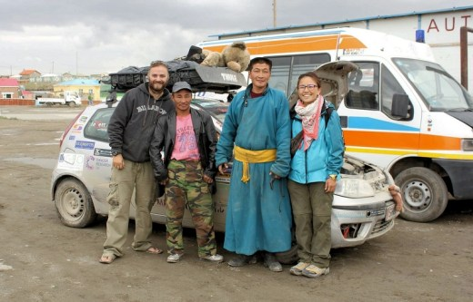 Mongolian garage engineer