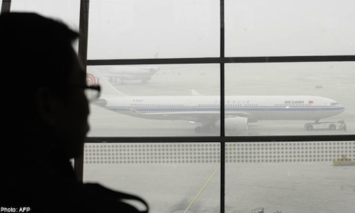 smog in beijing grounds flights