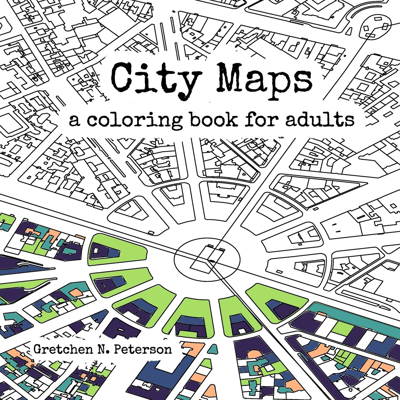 Book Cover Typography Map ~ City maps an adult colouring book the map room