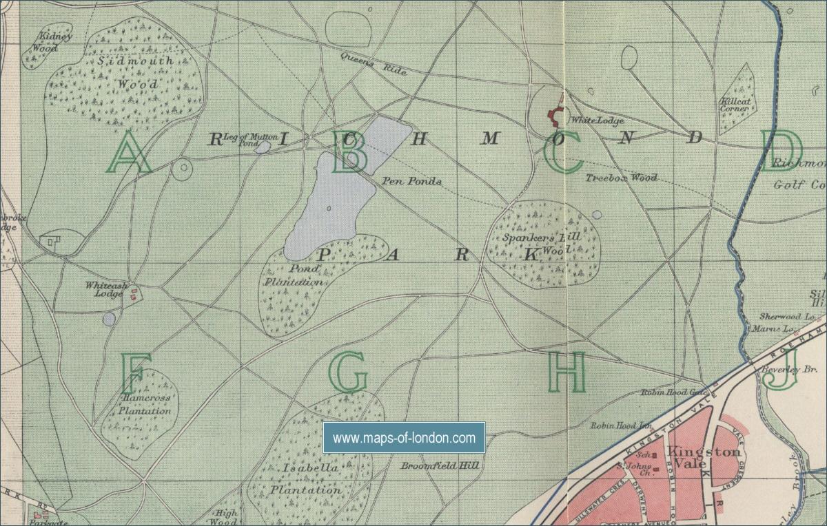 map showing richmond