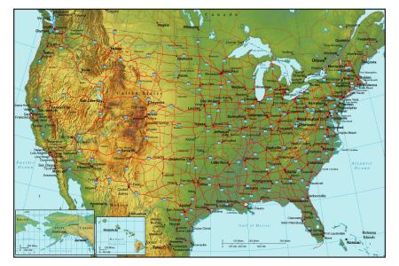 Map Of Major Highways In The United States - Usa map with cities and highways