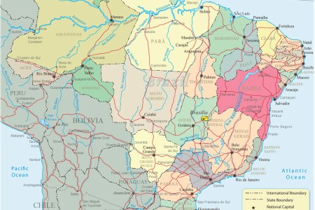 Map pf brazil political map zil sciox Images