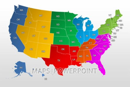 powerpoint maps of the united states. maps4powerpoint.com