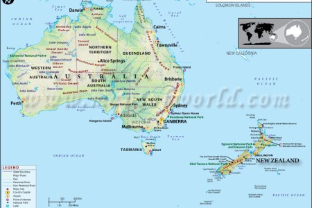 Map showing australia and new zealand gumiabroncs Images