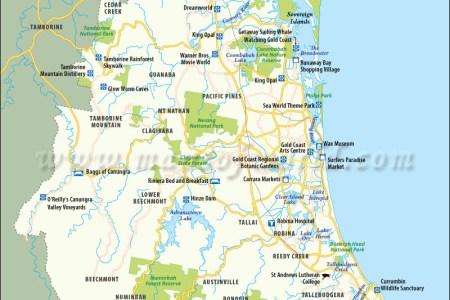 Map of australian gold coast gold coast map gold coast sea world park gumiabroncs Image collections
