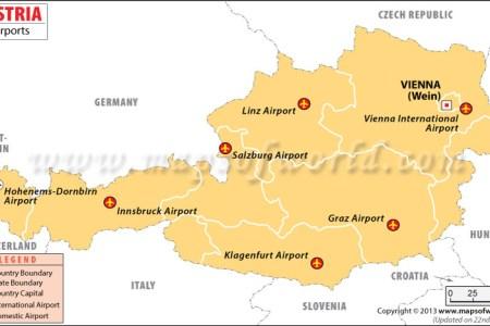 Map showing austria austria airports map publicscrutiny Images
