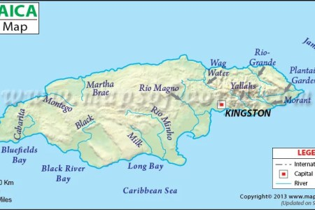 jamaica river map