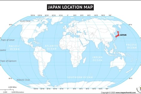Map Of The World Japan - Us map and japan