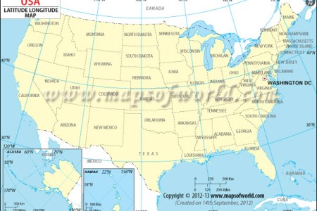 usa laude and longitude map | download free