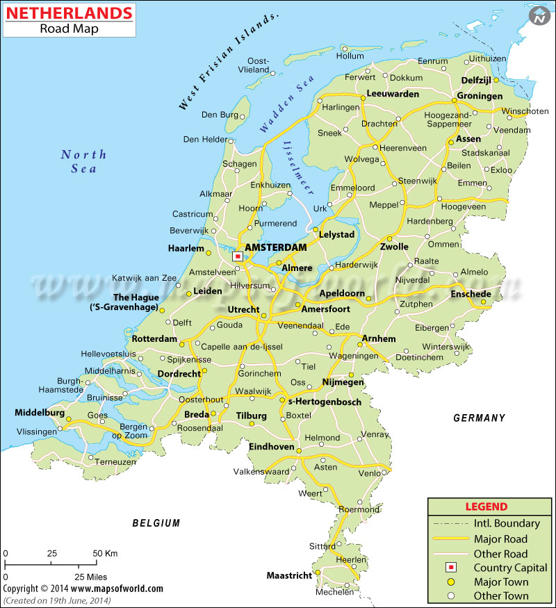 map showing holland