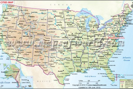 pics photos map of usa states and cities