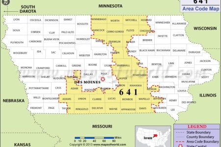 Map Or Code - Area code wisconsin map
