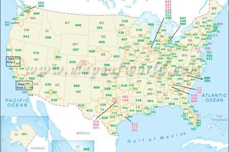 us area codes lookup | us telephone area codes map