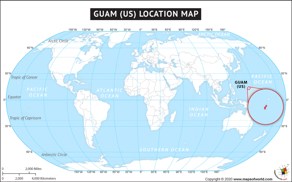 map showing guam