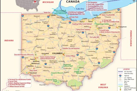 Where Is Ohio Located Location Map Of Ohio USA Ohio State Maps - Us map of ohio