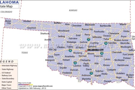 Map Us Oklahoma Maps Of USA Map Of The United States Oklahoma - Oklahoma in us map