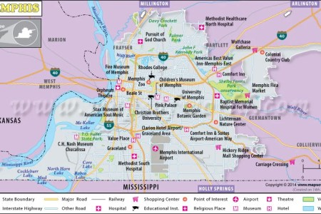 Map Of Memphis Area - Memphis on us map