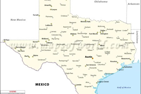 Map Of Texas With Cities - Texas maps cities