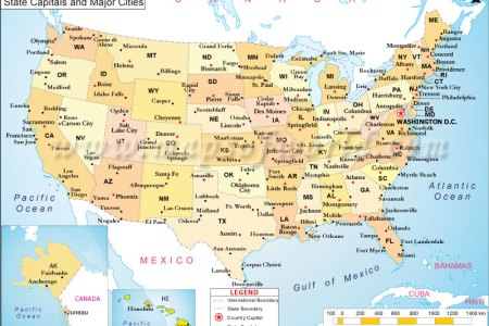 us major cities | map of us with major cities