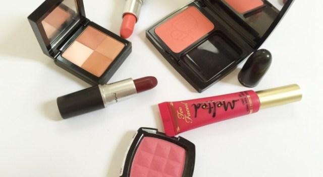 associer rouges a lèvres et blush