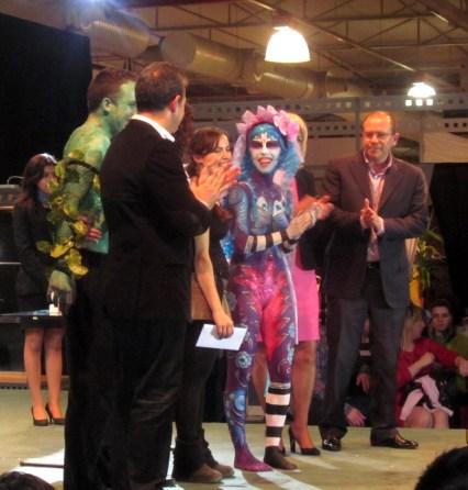 Entrega del tercer premio Jesal Extetic 2012 a Beatriz Martínez
