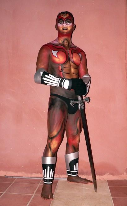 Maquillaje corporal Gladiador