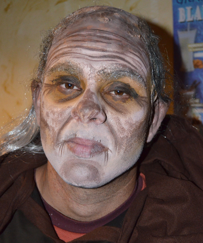 Maquillaje caracterización brujo murcia