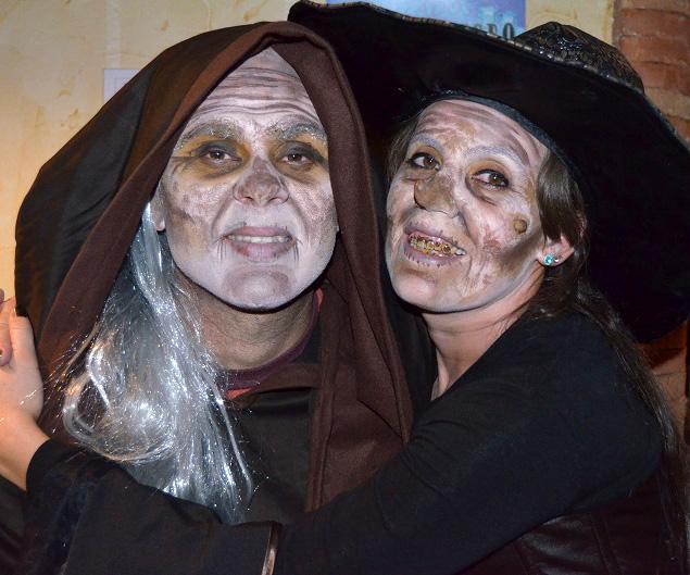 Caracterización maquillaje Halloween brujo bruja Murcia