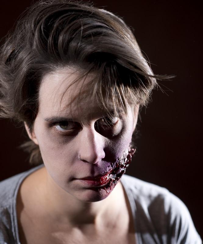 Caracterización Halloween herida boca Murcia