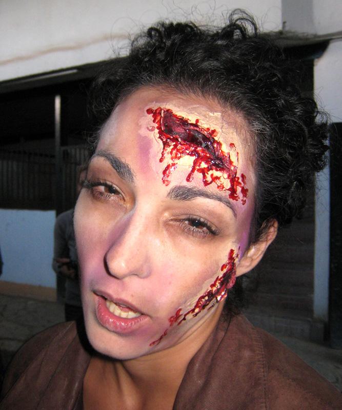 Caracterización herida cara frente Murcia