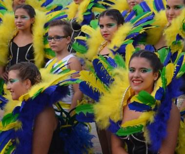 Maquillaje comparsa desfile Brasil Kimera