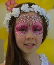 Maquillaje infantil princesa rosa