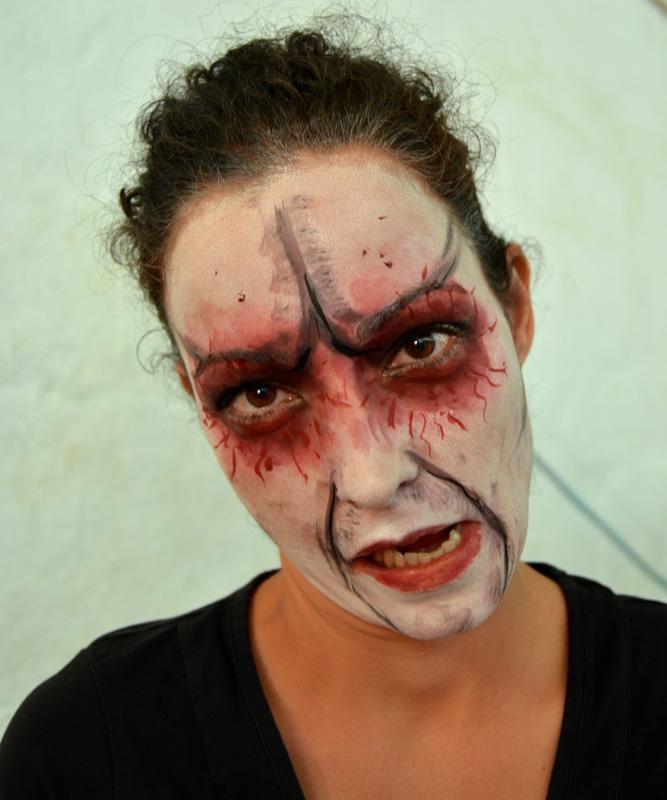 Maquillaje Halloween zombie Murcia