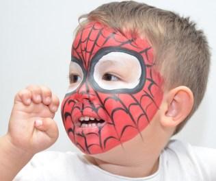Pintacaras Maquillaje infantil de Spiderman