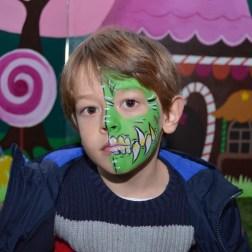 face painting dragón verde maquilladora beatriz