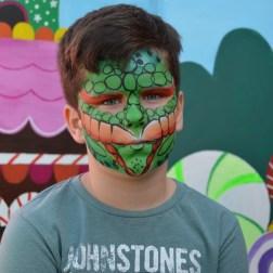 Maquillaje de serpiente en carnavales de Molina de Segura