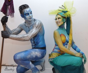Cruises New Media Group. Body paint Beatriz Martínez