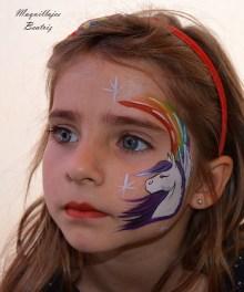 Maquillaje de unicornio Beatriz Martínez
