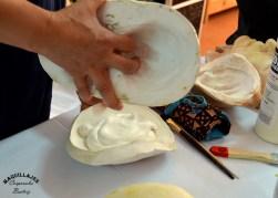 Realización de molde de herida con espuma de látex