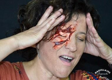 Herida realizada en espuma de látex
