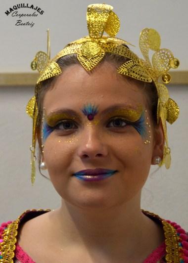 Maquillaje para fiestas de moros y cristianos de Orihuela 2017