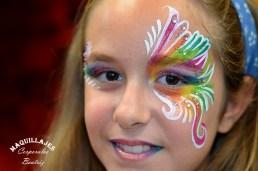 Maquillaje infantil arco iris