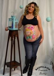 ´Precioso maquillaje en barriga de embarazada
