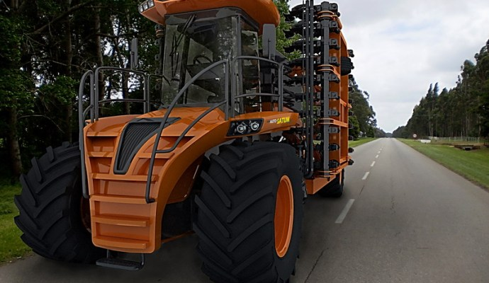 Diseñan en Mar del Plata una original sembradora autopropulsada