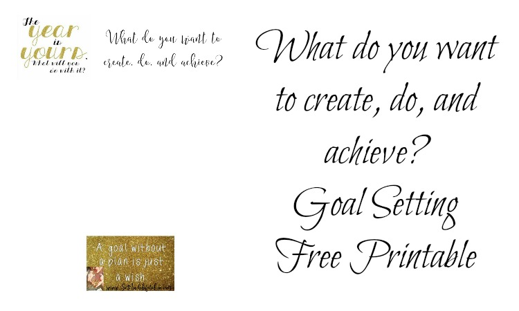 A New Year ~ A fresh start ~ What do you want to achieve? Free Printable