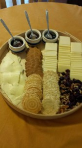 Lavonia Cheese Board: Cabot Alpine Cheddars and Swedish Farmers Cheese