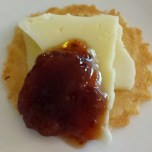 Swedish Farmer's Cheese and Miss Anne's Homemade Fig-Strawberry Jam
