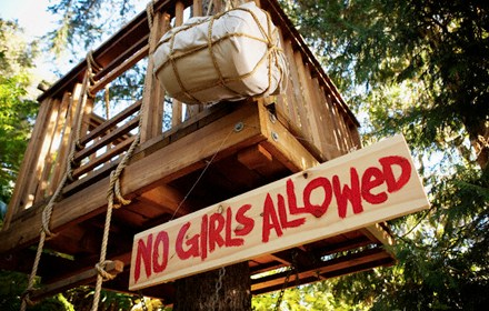 Boys only tree house
